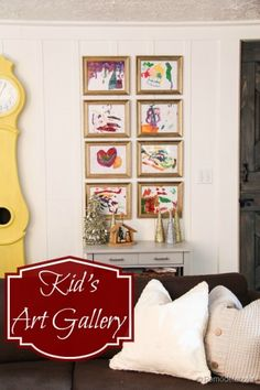 Kids Art Gallery ide