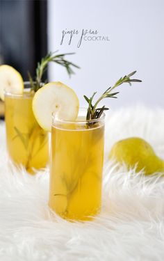 Ginger Pear Cocktail #drinks #cocktails #alcohol