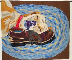 Let Sleeping Dogs Lay, quilt by Jennifer June