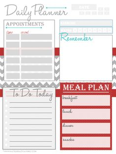 Free Printable Daily Planner Page | Planners, Free printable and ...