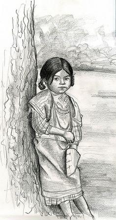 Native American Child,