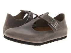 Birkenstock Paris Soft Footbed Iron Oiled Leather - Zappos.com Free Shipping BOTH Ways $104.99