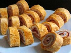 Ham and Cheese roll appetizer