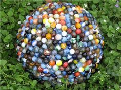 glue marbles to bowling ball