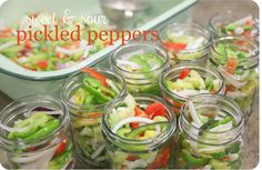 Sweet & Sour Pickled Banana Peppers