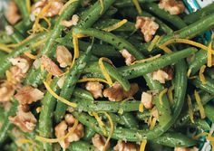 Thanksgiving side: green beans and walnuts with lemon vinaigrette