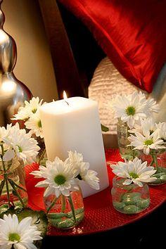 Make a Baby Food Jar Table Wreath!