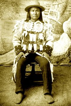 Nez Perce Chief Joseph, Fort Spokane, Washington, possibly Oct. 1886.