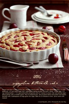 Sugarplum Buttermilk Cake