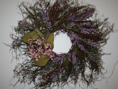 Angel  Vine Twig Wreath with Hydrangea Bloom and by NaturesGlow, $39.00