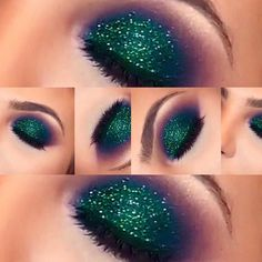 Super stunning mermaid inspired eye makeup