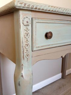 Side / Console Table with ASCP-Coco and Duck egg blue chalk pain