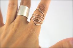Long Ring Thin Ring Knuckle Ring Double Ring Summer by ElishaMarie
