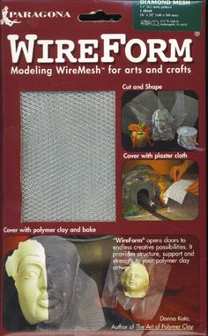 WIREFORM Modeling Wire Mesh Arts Crafts Polymer by TheMaineCoonCat, $3.95