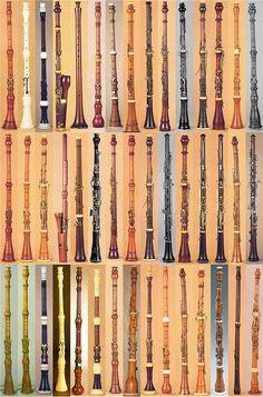 A few oboes from the Musée de la Musique collection, Paris