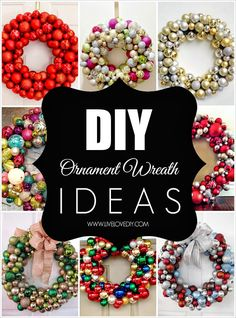 20+ DIY Christmas ornament wreaths that you can make yourself! LOVE these! So many ideas!