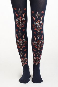 Folklore Paisley Tights