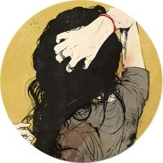 artists, drawings, messy hair, black hair, illustrations, long hair, the artist, curly hair, matthew woodson