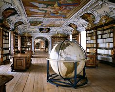 The Library of the Kremsmnster Abbey, Austria | Massimi Listri #photography | www.artnet.com/...