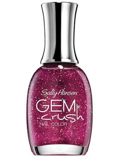 10 Best Sparkly Nail Polishes for Holiday Festivities: Gem Crush Nail Color in Lady Luck, $6.95, Sally Hansen.