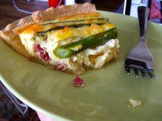 Ham and Asparagus Quiche