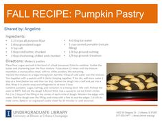 Pumpkin Pastries from Angeline. Cookbook recommendation (which is also the source of this recipe): The Unofficial Harry Potter Cookbook by Dinah Bucholz ( http://ow.ly/pXsTR )