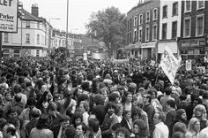 """""""This shot shows New Cross Road looking up to bottom of Lewisham Way - building on left is Marquis of Granby pub."""" Transpontine: Lewisham '77 photos by Chris Schwarz"""