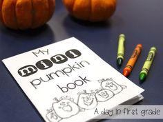 free mini pumpkin investigation books!