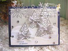 white christmas trees card