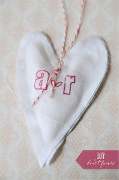 DIY heart wedding favors- stamped