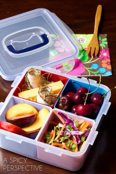 Healthy School Lunch Ideas | ASpicyPerspective.com #backtoschool #lunch #schoollunch #lunchbox