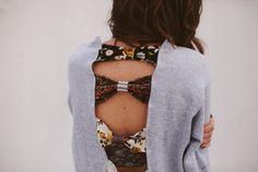 Bow Back Sweatshirt DIY