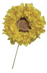 Giant Tissue Sunflower Poems (217-070) from Guildcraft Arts & Crafts! ese adorable sunflower poems will help brighten someone's day! Includes cardboard flowers, yellow tissue squares, preprinted poems and wood dowels.