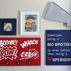 sign printabl, diy crafts, boy rooms, babi, diy boys room decorations, kids signs, kid room, superhero sign, bedroom