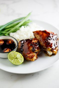 Sweet chilli and soy baked chicken | simply-delicious.co.za #recipe #dinner #food