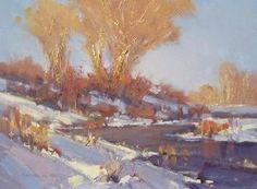 artpanoram landscap, winter scene, landscap paint, winter paint, scott christensen
