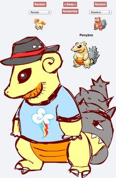 Pokemon fusion PONYBRO LOVE IT