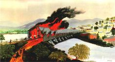 The Burning of Troy in 1862, Grandma Moses, 1943