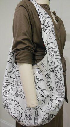 Crochet Sling Bag | Projects by Jane - blogspot.com