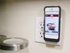 Simply plug the PocketPlug into any two prong outlet and your iPhone will start juicing up.