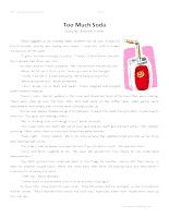 Too Much Soda – Third Grade Reading Comprehension Test: Use the information in the story to answer the 5 comprehension questions. Answer Key Is Included.    Too Much Soda - Third Grade Reading Comprehension – Click Here    Information: Third Grade Reading Comprehension. 3rd Grade Reading Comprehension Test Practice.