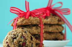 The Greatist Table: 10 Healthy Holiday Desserts from Around the Web-- Cranberry Choco Chip Cookies via ManilaSpoon