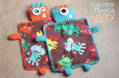 Monster Fleece Lovey Blankets - Free Crochet Pattern