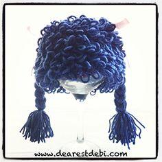 Crochet Cabbage Patch Kid Newborn Girl Beanie - Dearest Debi Patterns