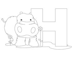 Animal Alphabet Letter H is for Hippopotamus! Here's a simple