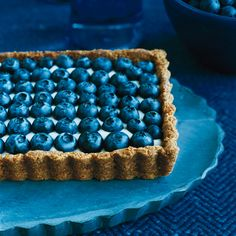 Honeyed Yogurt and Blueberry Tart with Ginger Crust