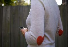 diy heart elbow patches!!
