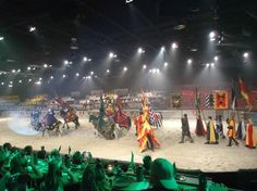 #MYRDreamvacation  Medieval Times: A dinner show offering medieval jousting theme