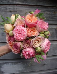 Peony and rose bouquet...use more fall colors for autumn wedding