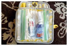 Make a girl's survival kit from a potholder at TidyMom.net